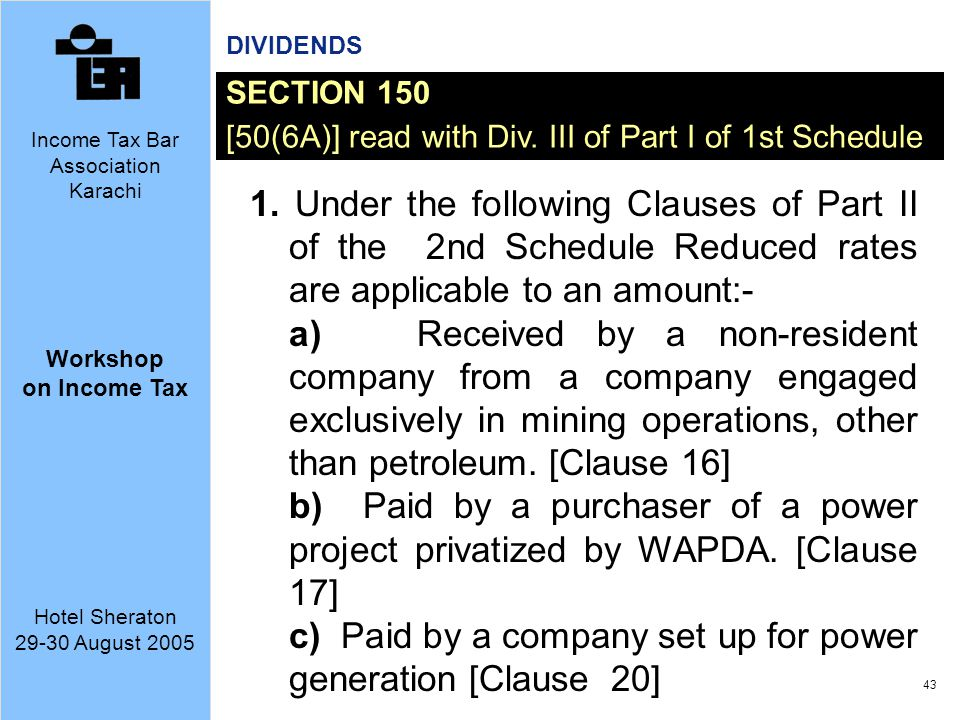 c) Paid by a company set up for power generation [Clause 20]
